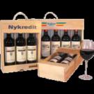 3 flaskers logokasser  prisen er excl. vin - 8 dages leveringstid